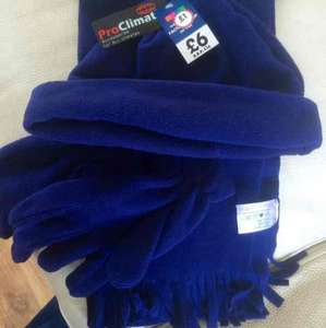 mens hat scarf & gloves set from £6 to £1 at the original factory shop tredegar