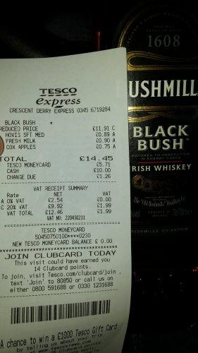 Bushmills Black Bush 700ml less than half price £11.91 at Tesco Express
