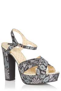 Oasis 70's jacquard platform shoes reduced to £15 @ Oasis