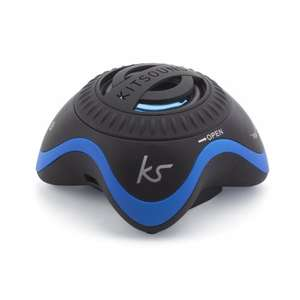 Kitsound Invader Portable Speaker With Built in 3.5mm Cable - Black/Blue Vodafone / Ebay 4.99 delivered (various colours)