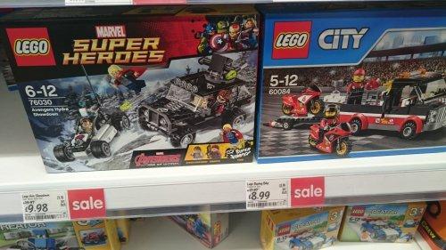 Lego Marvel 76030 £9.98, Lego City 60084 £8.99 @ Asda Chorley