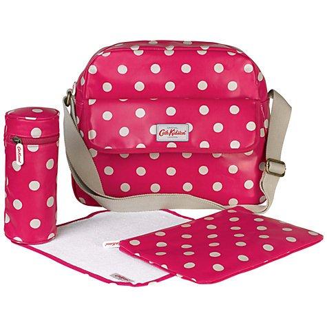 Cath Kidston Polka Dot Zip Changing Bag, Raspberry £37.50 johnlewis