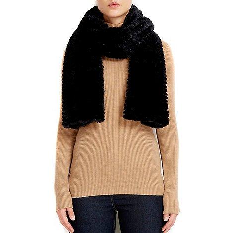 Wallis Black faux fur teddy scarf at Debenhams - was £16.00 now £5.00 (free C&C)