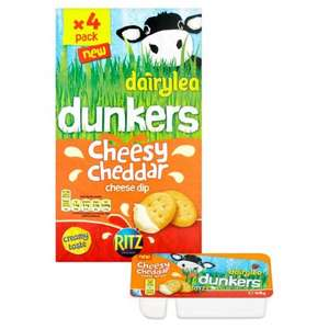 Dairylea Dunkers Cheesy Cheddar 4 x 46g 49p @ Home Bargains