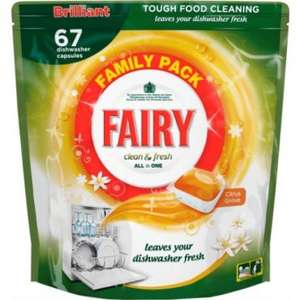 67 Fairy Dishwasher Tablets £6.00 @ Poundland