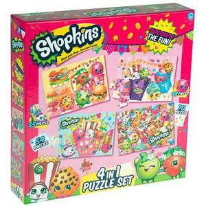 Shopkins Puzzles pack of 4 was £10 now £5 @ The Entertainer