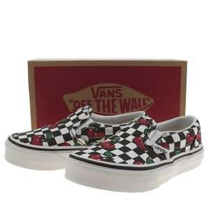 Girls Cherry Vans £7.99!! Free delivery from Schuh. Reduced from £32