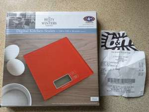 Digital kitchen scales b&m instore for £1