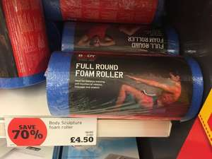 Reduced from £15 to £4.50 (70% off in store - body sculptures full round foam roller @ Sainsburys