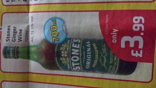 Stones original ginger wine 70cl 13.5% volume - £3.99 @ Savers