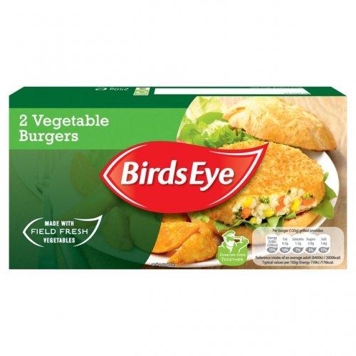 Birds Eye 2 Vegetable Burgers Frozen 250g £0.29 @ Farmfoods