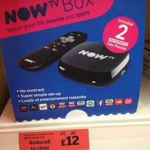 now tv box £12 @ sainsburys