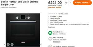Bosch HBN331S5B Black Fan Assisted Electric Single Oven £221 @ B&Q
