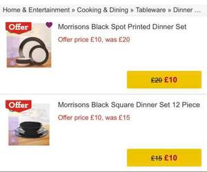 12 piece Dinner set £10 @ Morrisons instore and online