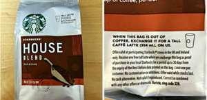'Free' Starbucks Latte with £2.50 bag of coffee