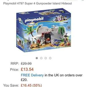 Playmobil 4797 Super 4 Gunpowder Island Hideout £13.54  (Prime) / £18.29 (non Prime) @ Amazon