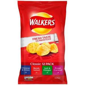 Walkers 12 packs - just £1 at Heron Foods - also Quavers & Wotsits 12 packs for £1