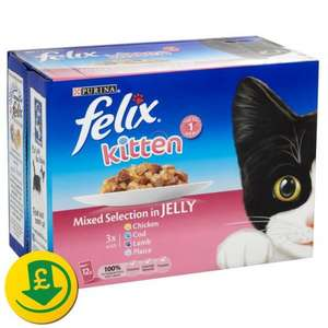 Felix Cat Food Pouches x 12 at £2.43 at Morrisons
