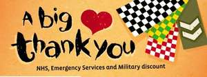 NANDOS 20% off to all NHS, Police, Fire, Ambulance Service or Military employees.