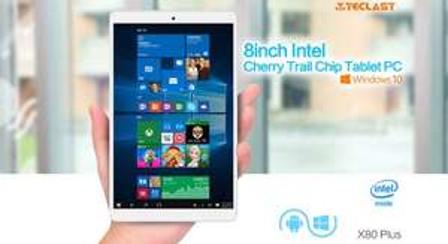 "Teclast X80 Plus Windows 10 + Android 5.1 Tablet PC Intel Atom X5-Z8300 64bit Quad Core 1.44GHz WXGA IPS 8"" Screen 2GB RAM 32GB ROM WiFi Bluetooth 4.0 HDMI Functions WHITE £60.51 Presale Price @ Gearbest"