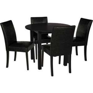Elmdon Black Circular Dining Table and 4 Black Chairs only £19.99  (+£8.95 delivery) at Argos