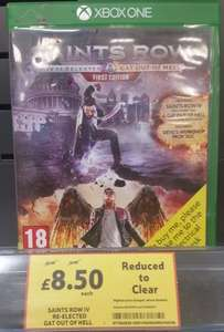Saints Row IV Re-Elected & Gat Out Of Hell Xbox One/PS4 £8.50 Instore @ Tesco