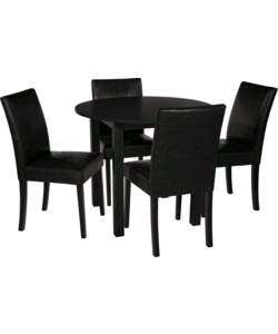 Buy Elmdon Black Circular Dining Table and 4 Black Chairs at Argos.co.uk - Your Online Shop for Dining sets, Dining tables and chairs, Limited stock Home and garden.