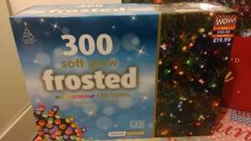 B&M Christmas lights down to £1
