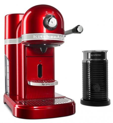 Kitchenaid Nespresso Machine + Aeroccino £229 Candy Apple Red