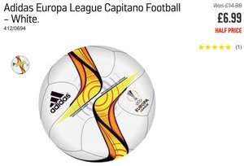 Adidas Official Europa League Football Less than half price Was £14.99 now £6.99 @ Argos
