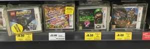 Luigis Mansion £8.50, Lego Batman 3 and Monster Hunter 4 £8. Nintendo 3DS in store Tesco Wigan.