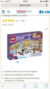 Lego Friends Advent Calender 41102 only £5.00 & free C&C @ Tesco Direct
