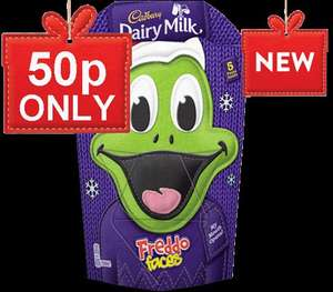 Freddo Faces 175g 50p! (and other chocolate goodies) + £3.95 del @ Cadbury gifts direct