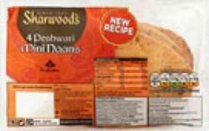 Sharwoods mini peshwari,plain or garlic and coriander naans. 4 pack. 99p from waitrose