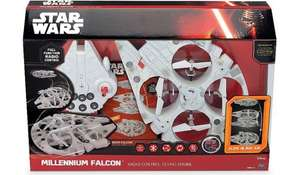 Star Wars The Force Awakens Millennium Falcon Radio Control Flying Drone £40 at Tesco Direct