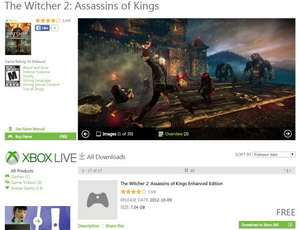 The Witcher 2: Assassins of Kings Enhanced Edition FREE @ Xbox