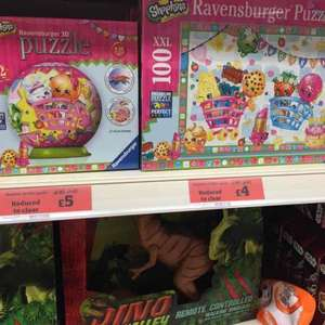Shopkins puzzles in sainsburys half price   £4 and £5