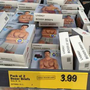 Men's Boxer Briefs- pack of 2 £3.99 at Lidl