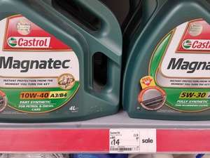 Castrol Magnatec 4 litres 5w30 + 10w40 full/part synthetic £14 @ Asda (Arnold)