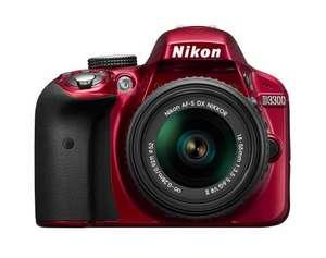 NIKON D3300 Red DSLR camera 18-55mm VR lens £249.00 @ Tesco Direct
