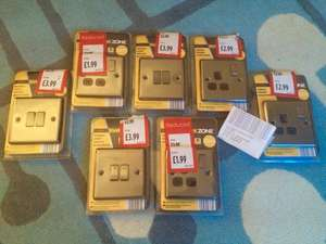 ALDI Single Sockets £1.99 & Double Light Switches £2.49