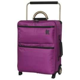 IT Luggage World's Lightest 2-Wheel Suitcase, Dahlia Mauve Small at tesco