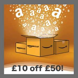 £10 off £50 spend at Amazon (TODAY ONLY) + includes Amazon Warehouse deals!