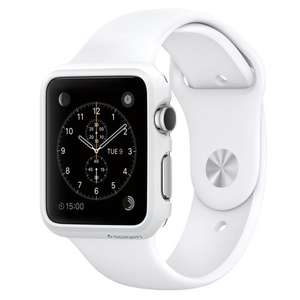 Apple 38 mm Silver Aluminium Watch with White Sport Band (£263.99 with code)