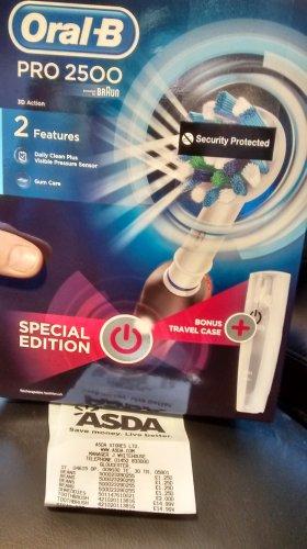 Oral B pro 2500 electric toothbrush £14.99 @ Asda metz way Gloucester