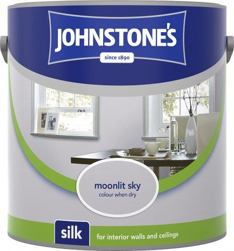 Johnstone's silk emulsion paint 2.5 litre Moonlit Sky just £4.79 on Amazon **Add on item**