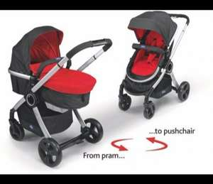 Chicco Urban Pram and Pushchair Travel System - Red. Argos