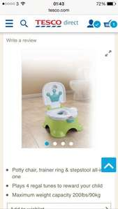 Fisher price royal step stool potty £20.25 @ Tesco
