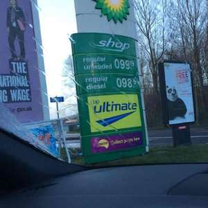 Diesel 98.9p  @ BP Team Valley Gateshead