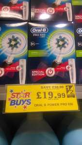 Oral b pro 650 electric toothbrush @ Home Bargains